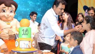 KTR Attends Chhota Bheem 10th Anniversary Celebration - Sakshi