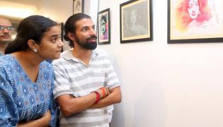 Mahanati Savitri panting at jnafau students photo gallery - Sakshi