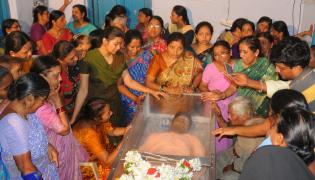 Funerals of Sharath Koppu at Warangal - Sakshi