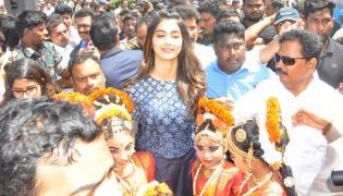 Pooja Hegde Malti Complex Start In Prakasam Photo Gallery - Sakshi