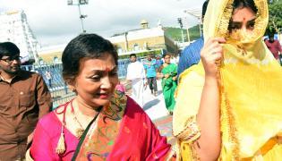 Actress Shriya Saran Visits Tirumala Tirupathi Devastanam Photo Gallery - Sakshi