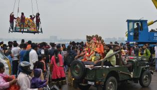 Ganesh Nimajjanam Celebrations in Hyderabad - Sakshi