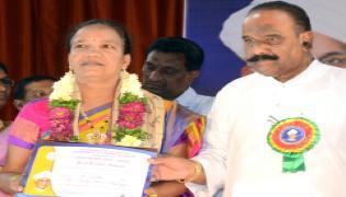 Best Teachers Awards at District Level at Indira Priyadarshini Auditorium Photo Gallery - Sakshi