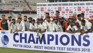 India Beat West Indies By 10 Wickets in Hyderabad Test Photo Gallery - Sakshi