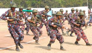 70th NCC Day Rehearsal at Parade Ground Photo Gallery - Sakshi