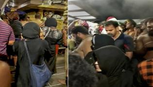 protest in Sabarimala temple Photo Gallery - Sakshi