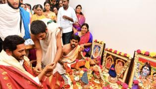 Ys Jagan New House Warming Ceremony In Tadepalli - Sakshi