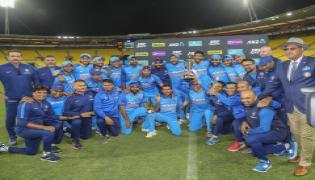 india won fifth odi against newzealand Photo Gallery - Sakshi