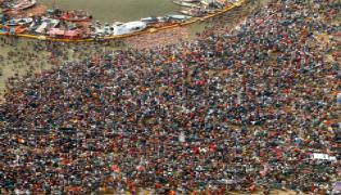 Aerial Photos Captured at Kumbh Mela 2019 - Sakshi