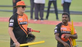 Sunrisers Hyderabad Practice At Uppal Stadium Photo Gallery - Sakshi