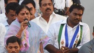 YS Vijayamma Public Meeting at Gokavaram Photo Gallery - Sakshi