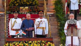 Narendra Modi second swearing in ceremony at Rashtrapati Bhavan Photo Gallery  - Sakshi