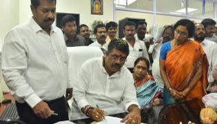 Balineni Srinivas Reddy Aavanti Srinivas and Dharmana Photo Gallery - Sakshi