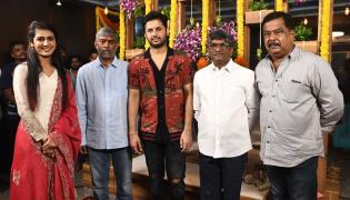 Nithin Priya Varrier Movie Opening Photo Gallery - Sakshi