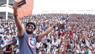 Nani At VVIT College Guntur Photo Gallery - Sakshi