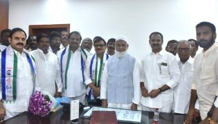 YSRCP Leaders MLC Oath Council Chairman Sharif Chamber Photo Gallery - Sakshi