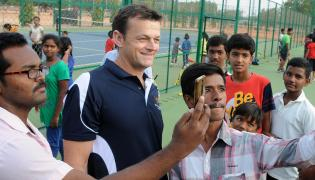 Adam Gilchrist Visited RDT Ground at Anantapur Photo Gallery - Sakshi