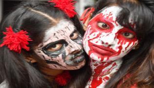 virtuso instute of fashion desing at panjagutta halloween nite Photo Gallery - Sakshi