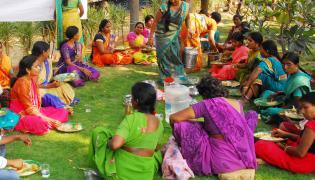 Karthika Masam Vanabhojanalu at Shilparamam in Hyderabad  - Sakshi