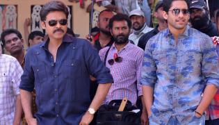 Venky Mama Working Stills Photo Gallery - Sakshi
