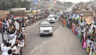 Grand Welcome To CM YS Jagan In Visakhapatnam Photo Gallery - Sakshi