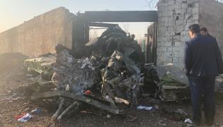 Ukrainian passenger plane crashes in Iran Photo Gallery - Sakshi