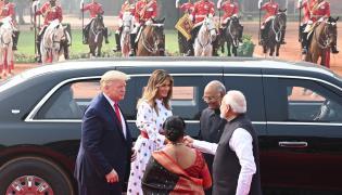 Donald Trump Visits at Rashtrapati Bhavan Photo Gallery - Sakshi
