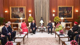 Trump meets with Indian president attends state banquet Photo Gallery - Sakshi