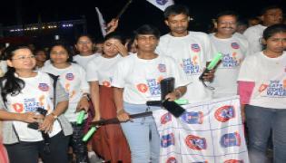She Safe Night Walk at Gachibowli Stadium in Hyderabad Photo Gallery - Sakshi