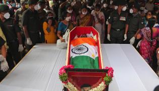Colonel Santosh babu Final Journey Photo Gallery - Sakshi