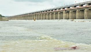 Flood Water at Prakasham Barrage Photo Gallery - Sakshi