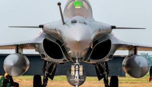 Rafale fighter jets land safely at IAF airbase in Ambala Photo gallery - Sakshi