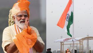 Narendra Modi Hoisted National Flag Errakota Photo Gallery - Sakshi
