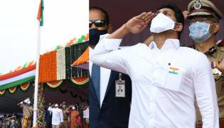 ap cm ys jagan mohan reddy flag hoisting vijayawada Photo Gallery - Sakshi
