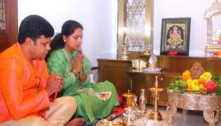 Celebrities Celebrate In Ganesh Chaturthi 2020 - Sakshi