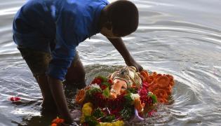 Ganesh Nimajjanam in Tank Bund Photo Gallery - Sakshi