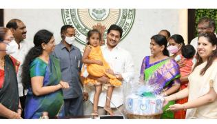 CM YS Jagan‌ Launched YSR Sampurna Poshana Schemes Photo Gallery - Sakshi