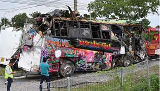 thailand bus crash Photo Gallery - Sakshi