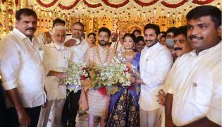 AP CM Jagan Attends Karanam Dharmasri Daughter Marriage Photo Gallery - Sakshi