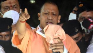 GHMC Elections 2020 UP Cm Yogi Adiyanath Road Show In Hyderabad - Sakshi