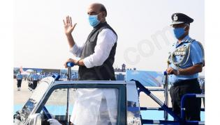 Rajnath Singh attends graduation parade at Airforce academy in Dundigal Photo Gallery - Sakshi