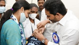 AP CM YS Jagan participating in the Pulse Polio program Photo Gallery - Sakshi