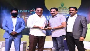 Sakshi Professionals Get Awards From Hybiz tv  - Sakshi