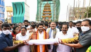 AP CM YS Jagan Mohan Reddy inaugurates Antarvedi temple chariot Photo Gallery - Sakshi