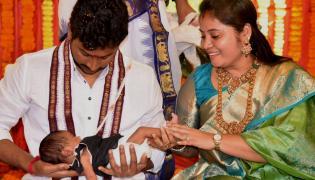 AP Dy CM Pamula Pushpa Sreevani Daughter Naming Ceremony Photo Gallery - Sakshi