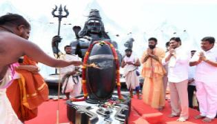 CM YS Jagan Participating In Shivratri Celebrations At Gudivada Photo Gallery - Sakshi