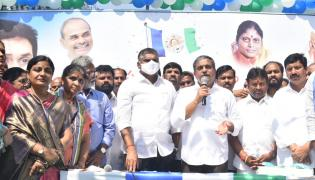 YSR Congress Party 11th Foundation Day Celebrations At Party Office - Sakshi