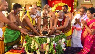 yadhadhri chakratheertha pooja Photo Gallery - Sakshi