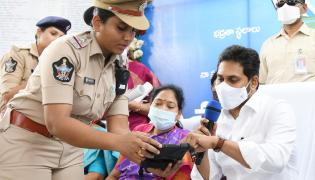 CM Jagan Launches Disha Mobile APP in Gollapudi Photo Gallery - Sakshi