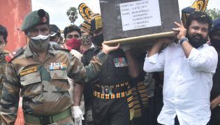 Army Jawan Jaswanth Reddy Funeral Photo Gallery - Sakshi